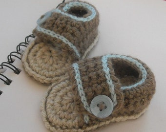 Hand crochet baby two tone sandals 0-3mth, 3-6mth