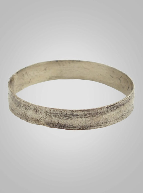 Ancient Viking Silver Over Bronze Wedding Band Jewelry