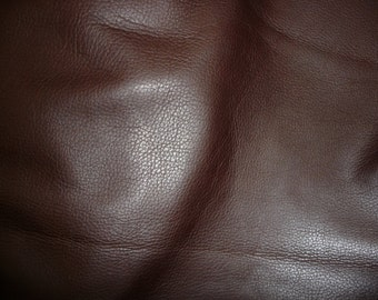 "Leather 8""x10"" Soft Chocolate Brown Tanned to feel like Deerskin Aniline COWHIDE 3-3.5 oz / 1.2-1.4 mm PeggySueAlso™ E2660-02"