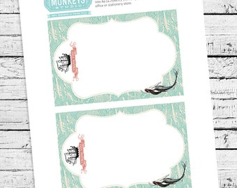 Pirate & Mermaid Birthday Thank You Note. Instant Download!