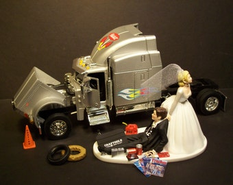 semi truck wedding cake toppers popular items for tractor trailer on etsy 19742
