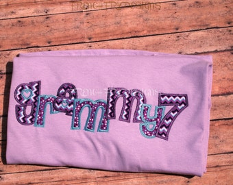 Grammy applique shirt for Grandmother Customized and Personalized with Number of Grandkids Names