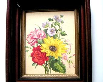 Vintage Botanical Print,Framed. Nature,Floral,Wall Hanging,Garden, Garden Theme,Spring