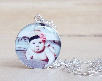 CUSTOM Photo Necklace - Picture Necklace - Custom Necklace - Custom Pendant - Personalized Necklace - Anniversary - Mother's Day - Memorial