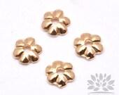 A323-G// Gold Plated 3.5mm Mini Flower Bead Cap, 20pcs