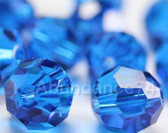 Swarovski Elements Crystal Beads 5000 Round Ball Beads CAPRI BLUE - Available in 5mm and 7mm