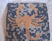 Handmade Tile Mosaic of Scorpion