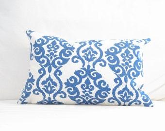 pillows, pillow covers, blue throw pillows, decorative pillows, lumbars, home decor, decor, designer pillows, waverly fabric pillows, 12x18