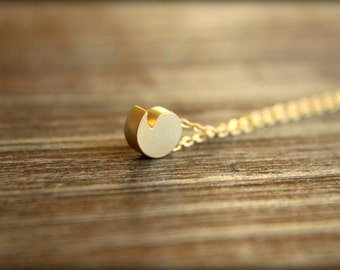 Comma / Apostrophe Necklace, Available in Silver or Gold