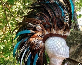 "Customizable Feather Mohawk / Headdress - ""Jezebel"""