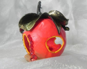 OOAK Poison apple fairy cottage * Ready to post*