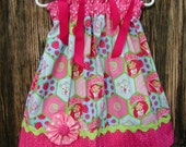 Strawberry Shortcake Too...Girls Pillowcase Dress Infant toddler sizes 0-6, 6-12, 12-18, 18-24 months, 2T, 3T..Bigger sizes AVAILABLE
