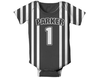 Referee Baby Bodysuit, Personalized Boy's Sport Ref Costume