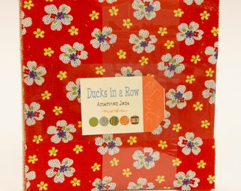 Ducks in a Row Fabric Collection by American Jane for Moda Fabrics - 1 Layer Cake