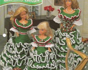 Crochet Pattern Crochet Christmas Barbie Pattern Fashion Doll Clothes
