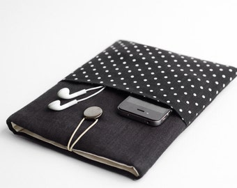 iPad Pro 9.7 case, Surface 3 sleeve, iPad Air 2 bag, with pocket, polka dot