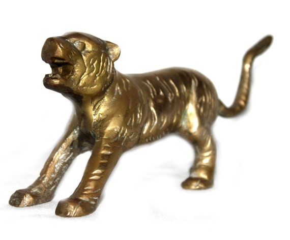 Vintage brass tiger- great gift for an Auburn fan