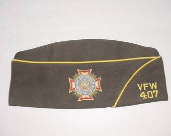 Historic Militaria~Nevada VFW 407 Veteran's of Foreign Wars 45 Yr Hat Size 7 1/4 Honorable Service