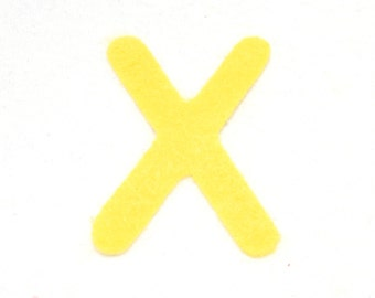 X -Felt alphabetic letters 2-4 inch, iron on, choose from 28 colors