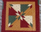Hunter's Star Quilted Table Topper