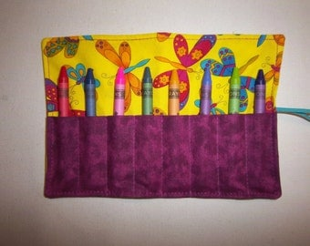 Butterfly Brites Crayon/Chalk Roll Holds 8 Crayons
