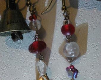 Tea and cards earrings