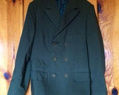 60's men's kaki green mod suit jacket m