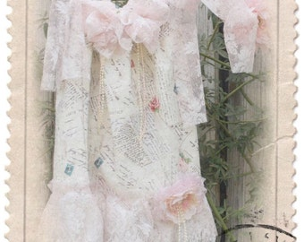"Vintage Dolls"" shabby chic lace dress,weddings,flower girls,photo prop,easter photography,birthdays, dresses, tea party dress, and headband"