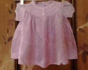Baby girls lilac flowered dress