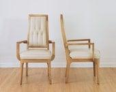 Pair of Vintage Mid Century Modern Walnut Arm Chairs