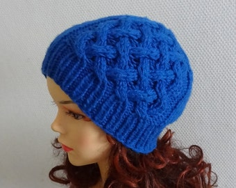 womens beanie hat - knit cable Beanie - Knit hat  chunky hat Chunky Knit Winter Fall accessories Knit Cable hat  -  any color Mens hats