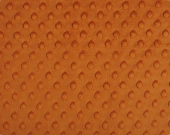 Rust Dimple MINKY From Shannon Fabrics - Choose Your Cut