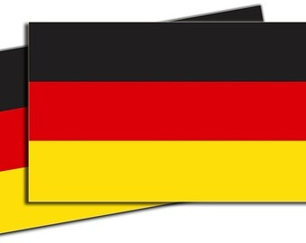 German Flag Vinyl Decal Sticker - 2 Pack ED953