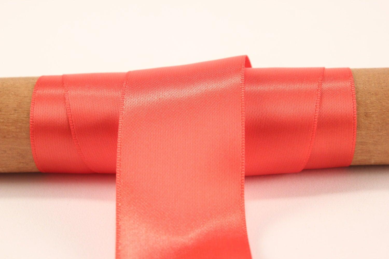 Coral Satin Ribbon 50 Yards 1 5 Inch Invitation