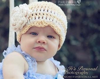 Crochet PATTERN - Crochet Pattern Baby - Crochet Pattern Hat - Crochet Hat Pattern - Patterns - Baby, Toddler, Child, Adult Sizes - PDF 261