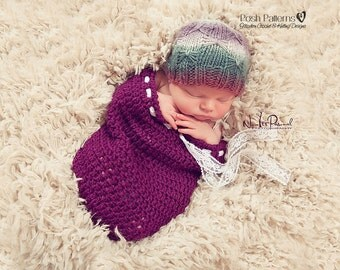 Knitting PATTERN - Butterfly Knit Hat Pattern - PDF 372 - Includes 4 Sizes Newborn to Adult Basketweave Hat - Photo Prop Pattern