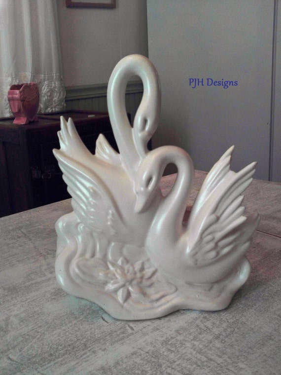 50 Off Use Coupon Code Clear15 Hull Pottery Twin Swan Planter