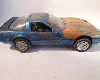 Rusted Scale Model, Corvette, Classicwrecks,Scale Model  Car,  Blue Vette