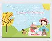 Picnic Invitation - Teddy Bear Picnic - Picnic Party - Printable Picnic Invitation - Printable