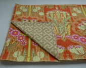 Ask for Persimmon set of 4 reversible placemats vintage modern geometric