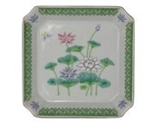 Small Japanese Lotus Garden Ceramic Dish