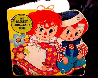 Vintage Children's Book - Raggedy Ann and Andy Golden Shape Book - 1978
