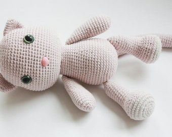 PATTERN - Kitty - Amigurumi Pattern - Cat Crochet PDF Tutorial - Instant Download - Printable - In English