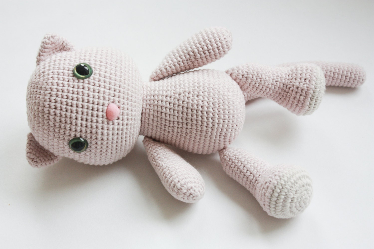 Tutorial Amigurumi Kitty : PATTERN Kitty Amigurumi Pattern Cat Crochet PDF Tutorial