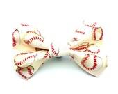 Cute Baseball Bow Tie / Collar Bow for Dogs (Boy or Girl) - Ballgame