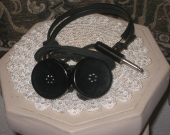 Alnico Magnetic #15 by the CF Cannon Company 1940s Headphones