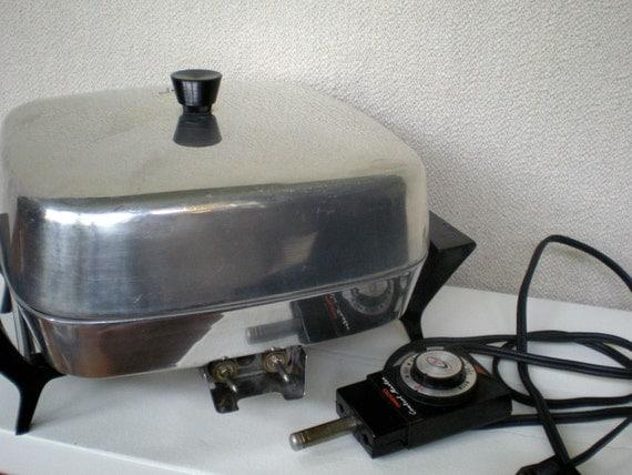 Electric Fry Pan Skillet Presto Frying Pan Small Retro