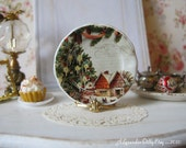 Night Before Christmas Dollhouse Plate
