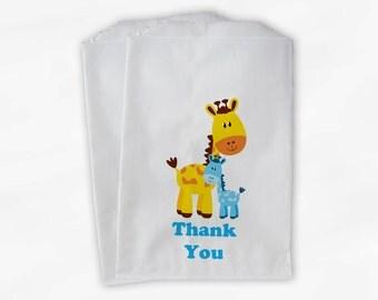 Giraffe Baby Shower Favor Bags - Boy or Girl Custom Treat Bags for Baby Shower - 25 Paper Bags (0024)