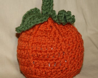 Pumpkin Hat, Crocheted for Infants & Toddlers